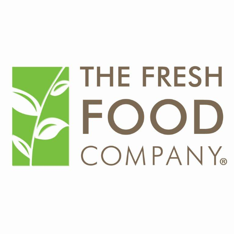 Fresh Food Company logo featuring text with leaves on to the left